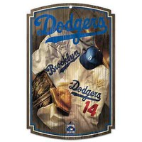 "LOS ANGELES DODGERS COOPERSTOWN JERSEY WOOD SIGN 11""x17"" BRAND NEW WINCRAFT"
