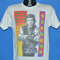 80s Paul McCartney World Tour 1989 t-shirt Small