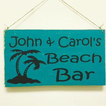 10x6 Custom Beach Family Name Wood Sign