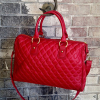 Lady Bug Quilted Leather Bag