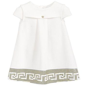NOV9O2 Versace Baby Girls Greca Dress