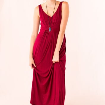 Easy to Style Maxi in Burgundy