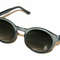 """Vintage Style Deadstock """"Elias"""" Sunglasses in Translucent Gray"""