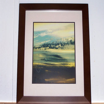 SUNSET - Smoke Clouds - 8x10 Matted & Framed To 11x14 Walnut Frame With Glass - OOAK Original