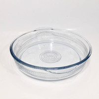 Fire King Philbe Sapphire Glass Casserole Dish, Round Glass Baking Dish