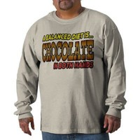 Chocolate in Both Hands Tee Shirts from