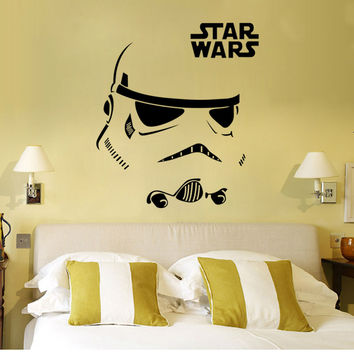 W-12 STAR WARS WALL ART STICKER Stormtrooper Darth Vader Vinyl Mural Decal Removable Home Decor