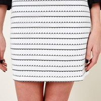 In Another Life White And Black Skirt