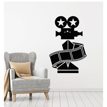 Vinyl Wall Decal Cinema Films Camera Movie Best Actress Stars Stickers Mural (g1040)