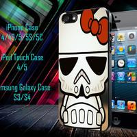Hello Kitty Stormtrooper Samsung Galaxy S3/ S4 case, iPhone 4/4S / 5/ 5s/ 5c case, iPod Touch 4 / 5 case
