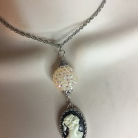 Cameo lady Necklace/Free Shipping