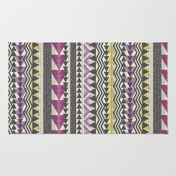 Tribal Triangles Area & Throw Rug by Bohemian Gypsy Jane | Society6