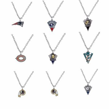 Sports  Football enamel Miami Dolphins  Patriots Bear necklace  PICK YOUR TEAM