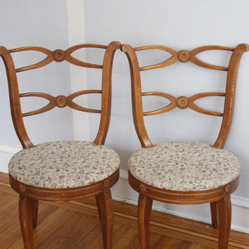 Best Offer Sale!!! Project/DIY Alert!! Beautiful 1930-1940s Regency Chairs (2).. Palm Beach Regency, Philly, NJ. NYC