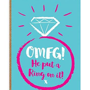 Humorous Put A Ring On It' Engagement Greetings Card