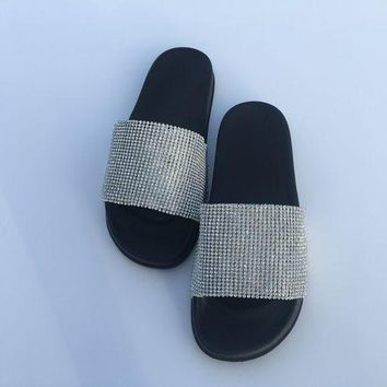 Rhinestone Bling Crystal Slides