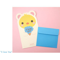 2young Animal friends letter paper and envelope set