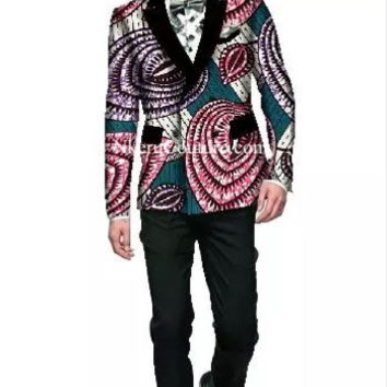 Mens Blazer Jacket Dashiki Men African Print Clothing Blazers for Men Long Sleeve Casual Blazer Suit Coat Blazer M - 6XL WY54