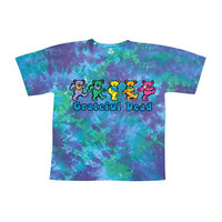 Grateful Dead Men's  Dancing Bear Tie Dye T-shirt Multi