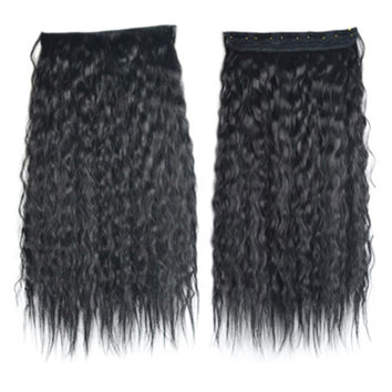 Colorful Corn Hot 5 Cards Hair Extension Wig     black