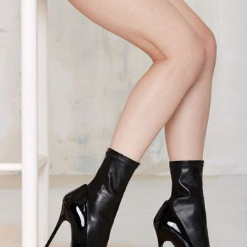 Nasty Gal Cut Throat Stretch Bootie Heel