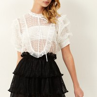 Luxe Lace Tiered Mini Skirt Discover the latest fashion trends online at storets.com