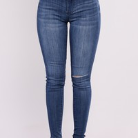 I Love Me Skinny Jeans - Dark Denim