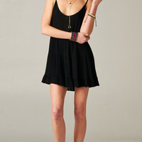 BLACK OPEN BACK BABYDOLL TIERED DRESS | PUBLIK | Women's Clothing & Accessories