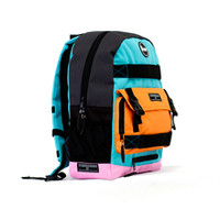 Penny Skateboard Backpack - Pastel Blue / Orange / Pink