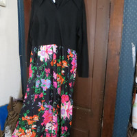 vintage mod    1970 ladies long maxi dress by Sears FASHIONS  sz 24 1/2