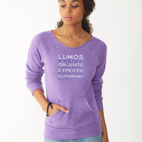 Harry Potter Spells ladies sweatshirt