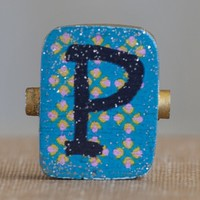 """""""P""""  Gypsy  Girl  Letter  Magnet  From  Natural  Life"""