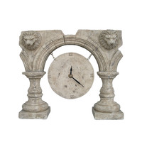 Roman Ruins Clock an Ancient Greek and Rome Old-fashioned style