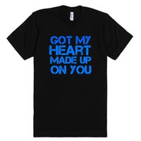 Heart Made Up On You tee-Unisex Black T-Shirt