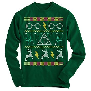 Harry Potter Glasses Ugly Christmas Sweater-On Sale
