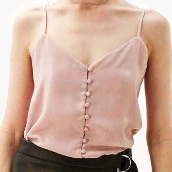 Button Up Satin Camisole