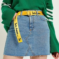iets frans… Slogan D-Ring Belt | Urban Outfitters