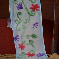 Watercolour Garden Scarf/Scarflette