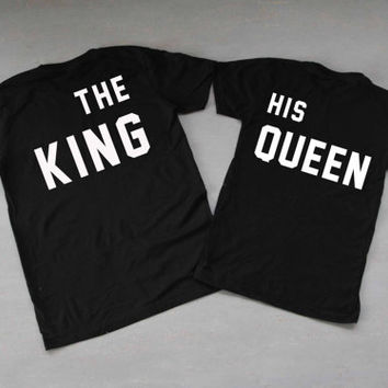 The King His Queen Shirts Couples Shirts T Shirt T-Shirt TShirt Tee Shirt Unisex - Size XS S M L XL XXL