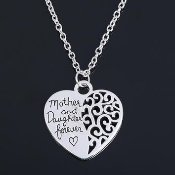 Mother & Daughter Forever Heart Necklace