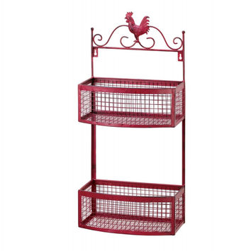 Rooster Double Stack Wall Basket