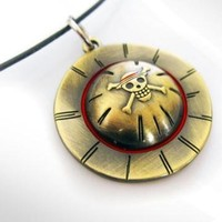 1 X One Piece Necklace Luffy Skeleton Straw Ace Hat Necklace