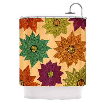 "Pom Graphic Design ""Color Me Floral"" Shower Curtain"