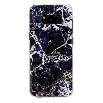 Midnight Gold Marble Samsung Case