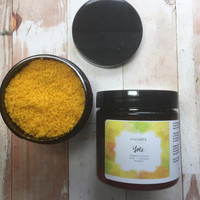 Turmeric Sugar Scrub, Exfoliating Face Scrub, Face Scrub, Moisturizing Sugar Scrub, Salt Scrub Mask, Organic, Natural