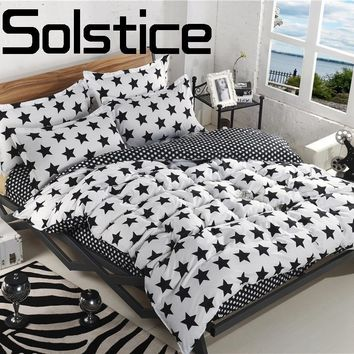 Solstice Home Textile  Bedding Fashion Skin Friendly 2018 Reactive Print Bed Sheet Quilt Cover Pillow case 3/4pcs