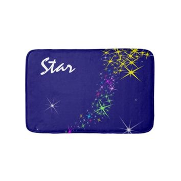 Christmas Star Bathroom Mat