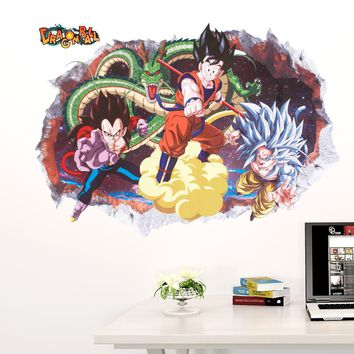 home decoration Vinyl cartoon Smashed Sun Wukong Wall Sticker kids decor removable children nursery dragon balls decals in rooms