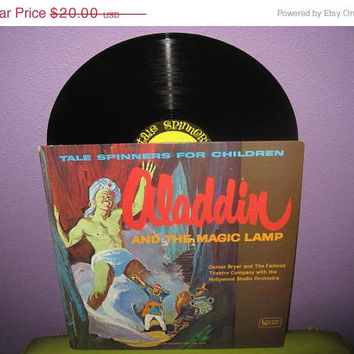 VINYL LOVE SALE Rare Vinyl Record Aladdin and the Magic Lamp - Tale Spinners for Children Lp 1960s Children's Classics