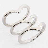 BP. Chevron Rings (Set of 3) (Juniors) | Nordstrom
